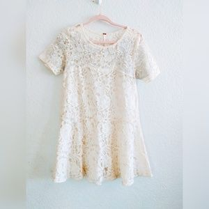 Free People Lace Peplum Top Size Medium